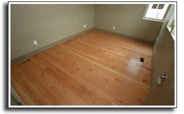 Reclaimed fir floor refinish