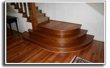 Photo of refinished oak stair nosing